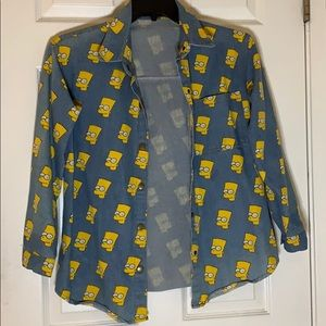 Bart Simpson button up